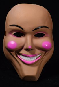Nuovo Cosplay The Purge Smiling Face Pink Lip Mask Festival Party Maschera di Halloween --- Loveful