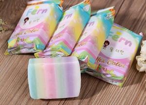 retail 3PCS OMO Handmade Soap Gluta Rainbow Soap Brand New Arrivals White Plus Soap Mix Color Plus Five Bleached White Skin