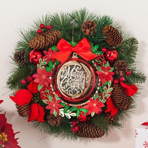 Eco-friendly Felice Anno Nuovo Buon Natale Greeting Card Cartolina Messaggio di carta Albero di Natale Hanger Ornamento Con Busta