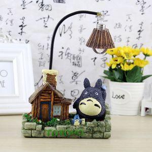 Cartoon Cat Nightlight Resin Lamp Totoro House Model Table Lamp Creative ornaments Home Decor luminaria de mesa Desk Lamp