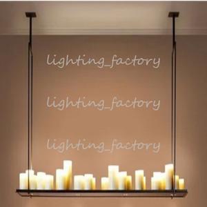 "120cm * 31cm 20 LED Hot Candle Holder ""Altar"" Lampada a sospensione Moderna Kevin Reilly Altar Pendant Light Candle Chandelier"