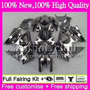 Cuerpo Para las llamas de plata SUZUKI GSXR-1000 K7 GSX-R1000 GSXR 1000 07 08 31HT18 GSXR1000 07 08 Carrocería GSX R1000 2007 2008 Motorcycle Fairing