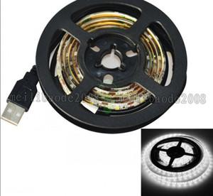 5V USB LED Strips 1M SMD3528 RGB SMD5050 Luci a nastro LED flessibili per TV Car Computer Tenda di illuminazione spedizione gratuita MYY