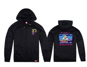 Schwarzes rosafarbenes Delphinwolljackekapuzenpulli-Sweatshirt geben Verschiffen frei nagelneues Hip-Hop-Hoodies 2017 Vliespulli-Kleidungsabnutzungs-Mannkapuzenpulli