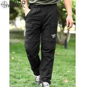 Wholesale-Mens Navy Seals Breathable Ultra Light Fast Drying Pants Zip Off Quick Drying Tactical Pants S~XXXL Army Green/Khaki/Grey