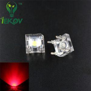 500PCS LED 5MM 피라 레드 슈퍼 플럭스 LED가 4 핀 돔 광각 슈퍼 밝은 빛 램프를 들어 자동차 빛 높은 품질 핫 판매