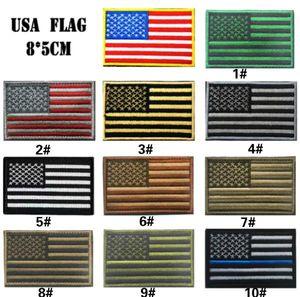 GPF-024 3,15 pollici 3D pacthes ricamati con nastro magico multicolore bandiera americana Outdoor Army bracciale / patch cucia sulla zona spersonality