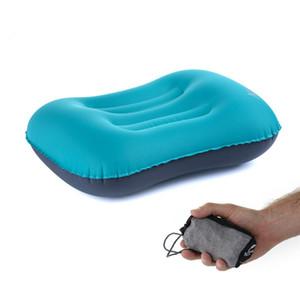 Whoslae 3colors Wahl TPU elastisches Gewebe im Freien aufblasbare Spielraumkissen bewegliches Schlafkissenflugzeugkissen Spielraumansatzkissen