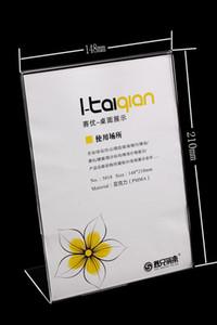 20 PZ L-tipo A5 (14.8 * 21 cm) Trasparente Acrilico segno etichetta Poster Pubblicità tavolo desktop cartellini dei prezzi espositore titolare T5018