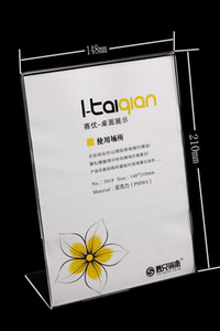 20PCS L 형 A5 (14.8 * 21cm) 투명 아크릴 간판 스티커 광고 게시자 탁상용 테이블 스탠드 홀더 T5018 가격표 카드