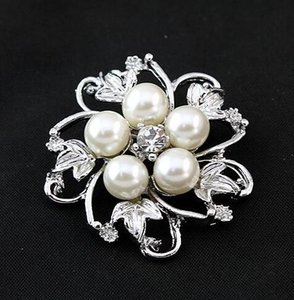 Brooches For Women Top Fashion Freeshipping Trendy Women Broches Hijab Vintage Brooch 20pcs Faux Pearl Pin 36*36mm hic
