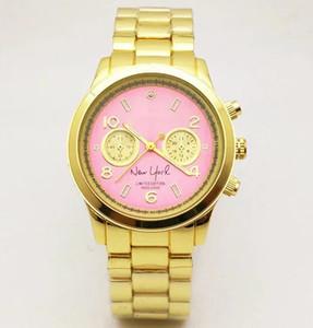 7 cores M marca relógios de pulso das mulheres dos homens de ouro de luxo em aço inoxidável pulso Relojes Negócios moda relógio de quartzo movimento relógios de prata
