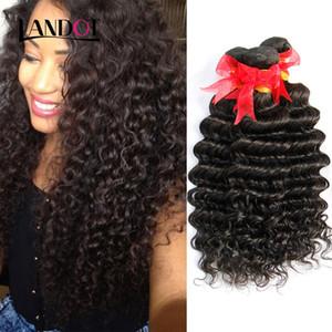 브라질 깊은 파도 곱슬 머리 버진 사람의 머리카락 묶는 번들 처리되지 않은 페루 말레이시아 인도 캄보디아 Brazillian 곱슬 머리 확장