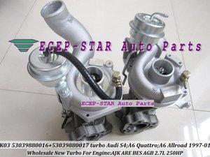 Twin Turbo K03 16 17 53039880016 53039880017 53039700016 53039700017 Turbocompressore per AUDI S4 A6 Allroad Quattro AJK ARE BES AGB 2.7L 250HP