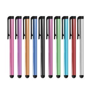 Iphone7 Için evrensel Kapasitif Stylus Kalem / Artı 6 / S 5 5 S Dokunmatik Kalem Tablet Için Farklı Renkler Için cep Telefonu 500 Adet / grup DHL Ücretsiz Kargo