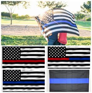 90 * 150 cm BlueLine ABD Polis Bayrakları 5 stilleri 3x5 Ayak Ince Mavi çizgi ABD Bayrağı Siyah Beyaz Ve Mavi Amerikan Bayrağı Ile Pirinç Grommet ...