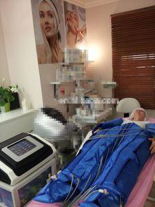 2 En 1 Pression pressothérapie Lymphe Draniage chauffage infrarouge lointain pressothérapie Circulation sanguine Matériel d'amincissement