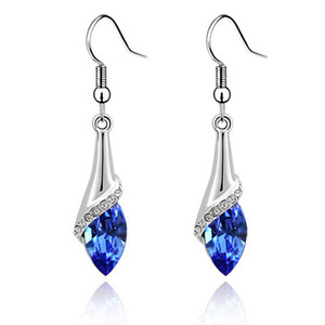 Austrian Crystal Drop Earrings For Womens Made With Swarovski Elements Long Dangle Earring Vintage Fashion Jewelry 2001