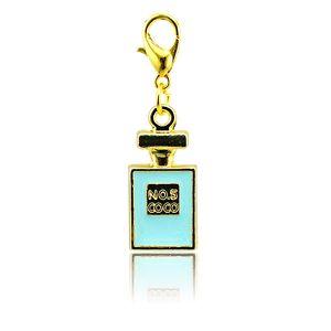 Moda Charms galleggianti placcati oro 4 colori smalto carta aragosta chiusura fascini in lega pendenti fai da te accessori gioielli