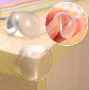 Bébé sécurité clair silicone protecteur Table Bureau Coin bord Protection Couverture souple Enfants anticollision CornerEdge Coussins B001