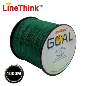 Wholesale-1000M GOAL LineThink  Best Quality Multifilament 100% PE Braided Fishing Line Fishing Braid Free Shipping