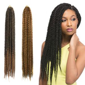 Afro toplu Saç 60 cm, 24 '' Havana Mambo Büküm Tığ Örgüler Saç Senegalese Büküm Jumbo Örgü Saç Uzantıları 12 Kökler / Set 100% Kanekalon