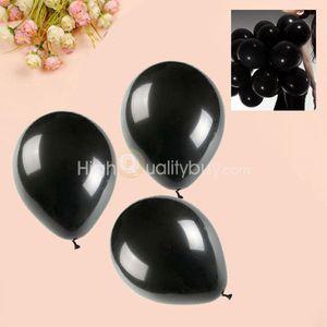 """100 x Latex Ballon Party Hochzeit Dekor Geburtstag feiern schwarz hohe Qualität 10 """""""