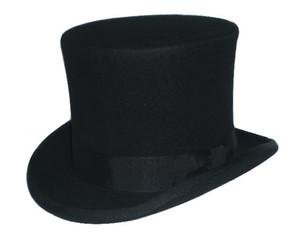 Wholesale-3 اللون قبعة steampunk diy جنون حتر أعلى قبعة الفيكتوري الصوف التقليدي قبعة فيدورا قبعة العم سام سمور قبعة