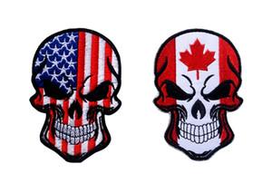 VP-230-1 Hot Halloween Crânio patches bordados patches táticos com vara mágica EUA Bandeira braçadeira Exército remendo jaqueta / cap morale patch