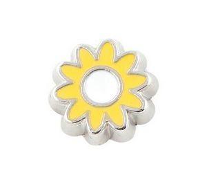 20PCS / lot Charms del medaglione di galleggiamento del fiore del sole misura per il pendente di Locket di galleggiamento di memoria magnetica di vetro Jewelrys che fa
