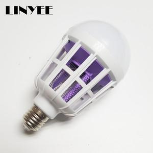 barato 220V 110V E27 2 em 1 Powerful Lâmpada LED duplo Luz mosquitos assassino Anti-mosquito Luz Insect Killer Armadilha 10pcs lâmpada da noite