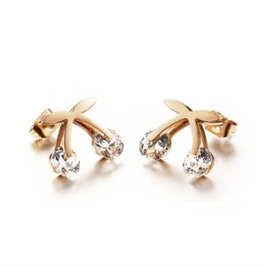 Fashion Earrings Rose Gold Crystal Earrings For Women Fashion Butterfly Jewelry Rose Gold Stud Earrings GGE284