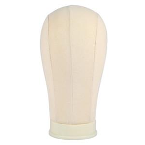 Mannequin cabeça peruca Stand20 / 23/24 / polegada Bege exibição manequim peruca stand Fazendo suporte Styling Canvas cabeça de manequim Wig