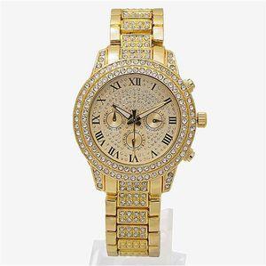 Relojes de lujo para mujer Diamantes Relojes 3 Ojos Mujeres Pulsera Ladies Designer Relojes de pulsera 3 colores al por mayor Envío gratuito
