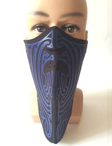 Outdoor Sports Halswärmer Protektoren Balaclavas Skifahren Radfahren Winddichtes Schutz halbe Gesichtsmaske Neoprene Jagd Mask