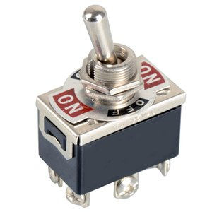 1xBlack 6-Pin Alternar DPDT ON-OFF-ON Interruptor 15A 250 V Mini Interruptores E-TEN1322 B00099 BARD