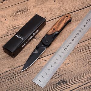 Handle transporte da gota borboleta DA44 bolso faca dobrável 3Cr13 Preto Lâmina Madeira + Aço EDC Canivetes Liner Lock
