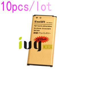 10pcs lot 2850mAh EB-BG800BBE Replacement Li-ion Battery For Samsung Galaxy SV Mini S5 mini G870 SM-G800 SM-G800F SM-G800H G800 Batteires