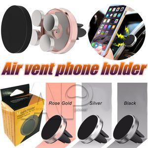 Mont Support magnétique Détenteurs de téléphone Vent Air Support voiture Supports universels Mobile Holder main Équipement pour Samsung Voitures S20 Ultra Note 10