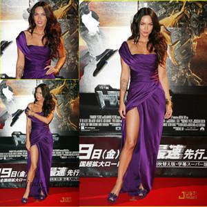 Sexy Cor Roxa Megan Fox Vestido de Noite Tapete Vermelho Celebridade Ocasião Dresse Prom Dress Party Gown