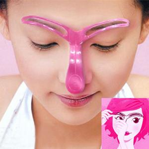 Plástico Cartão de Alta Qualidade Pro Sobrancelha Template Stencil Shaping Simples Operação DIY Ferramenta de Beleza para Sobrancelha