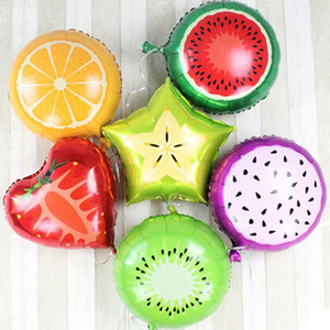 10pcs 18 Zoll Fruchtballon, Orange Wassermelone Erdbeere Frucht-Stand Stalls Geburtstags-Party Hochzeit Ballon Spielzeug