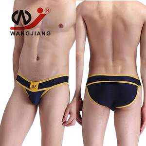 Wholesale-WJ Male Underwear Slip Homme Cueca Masculina Men'S Briefs Underwear Calzoncillos Hombre Slips Underpants Spandex Pouch Briefs