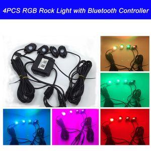 RGB LED ضوء الصخور مع بلوتوث / الهاتف الخليوي / توقيت / وضع الموسيقى / وامض / التحكم التلقائي تحت OffRoad Truck SUV ATV