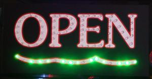 5 adet / grup doğrudan satış led dükkanı açık işaretler 2016 Sıcak Satış led açık tabelalar dükkanı açılış için 10X19 Inç yarı açık