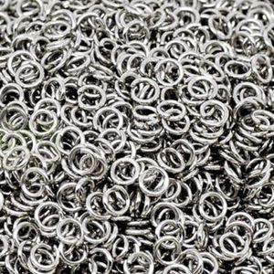 1000 pezzi Anelli di salto aperti in argento 5mm, 6mm, 7mm, 8mm, 9mm per la vostra opzione spedizione gratuita