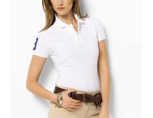 2017 Nouvelles Femmes POLO Shirt De Mode Top qualité Broderie Polo Homme Slim Fit À Manches Courtes Pur coton Polo Femme D'été TopsTees
