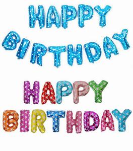 Joyeux anniversaire lettre en forme de ballons anniversaire décoration ballon à air gonflable feuille ballons cadeaux pour enfants 9 modèles DHT108