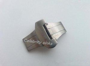 22mm 새로운 고품질의 스테인레스 스틸 스크럽 배포 솔리드 더블 버터 플라이 버클 손목 시계 밴드 스트랩 걸쇠 사용에 대한 파네 라이를 번쩍