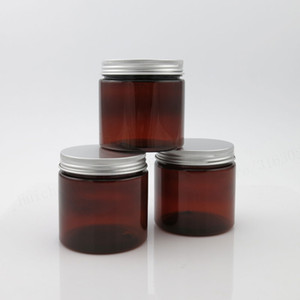 20 X 200ml Empty Amber PET Jar With Aluminum Cap Seal